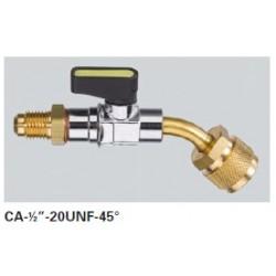 """Ventil kul.CA-1/2""""-20UNF-Y-45°"""